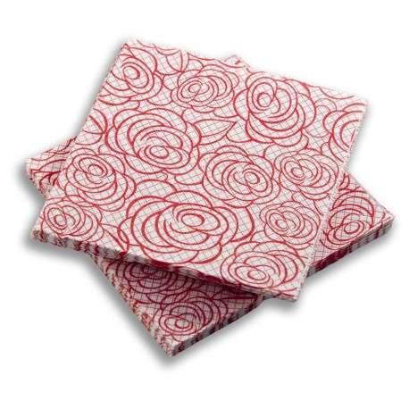 Servilleta Rosas Rojas