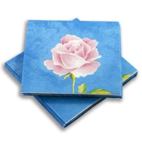 Servilleta Azul de flores