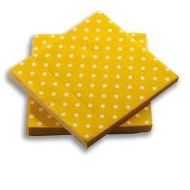 Servilleta Amarilla Puntos