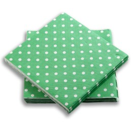 Servilleta Verde Puntos