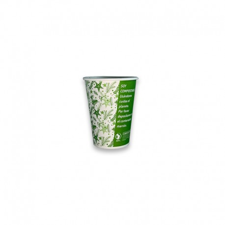 Vaso Compostable 12 oz verde