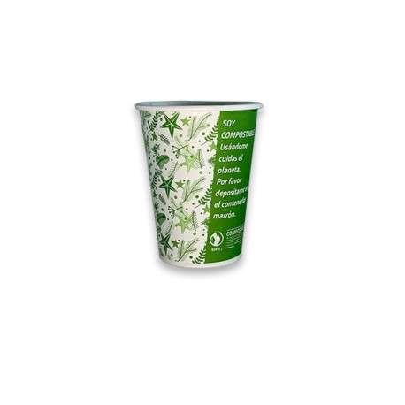 Vaso Compostable 16 oz verde