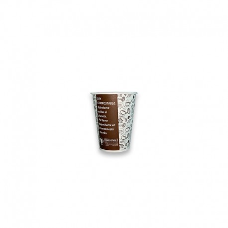Vaso Compostable 8 oz marron