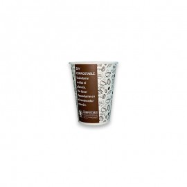 Vaso Compostable 12 oz marron