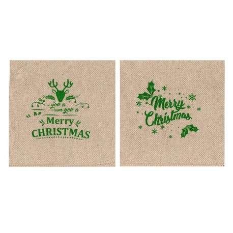 Servilleta ecológica cocktail 20x20 PP Navidad Merry Christmas