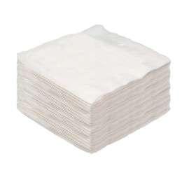 Servilletas 33x33 blancas de 1 capa