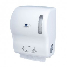Dispensador Papel mecha Autocortante Blanco