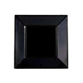 Plato Cuadrado Liso 23 cm Color-Negro