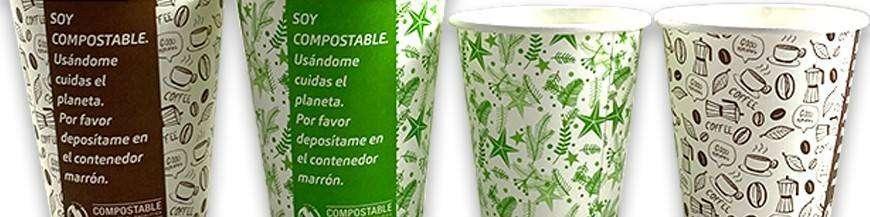 Vasos Compostables con Tapa